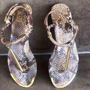 Dolce Vita Snake Print Summer Sandals